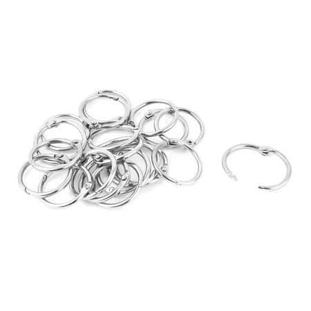 Unique Bargains 25pcs 30mm Metal Hinge Locking Book Binder Scrapbooking Loose Leaf Ring (Metal Book Rings)