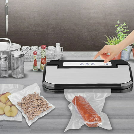 LYUMO Vacuum Sealer Machine, Upgraded Ymiko Vacuum Sealer Sous Vide Machine Automatic Vacuum Sealing System, 8 Times Preservation with Manual Pause Function for Vacuum and Seal /Seal, with 15 Bags,Vac Seal Automatic Vacuum