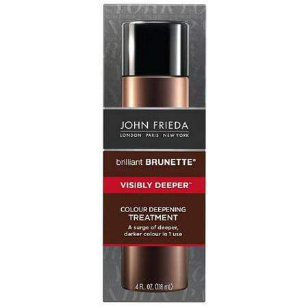 John Frieda Brilliant Brunette Colour Deepening Treatment, Visibly Deeper 4 oz (Pack of 2)