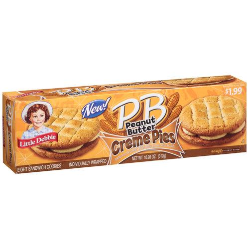 Little Debbie Peanut Butter Creme Pies, 8 count, 10.98 oz