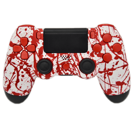 Blood Splatter PS4 Modded Rapid Fire Controller, Works With All Games, COD, Rapid Fire, Dropshot, Akimbo & More - Rapid Fire Marshmallow Shooter