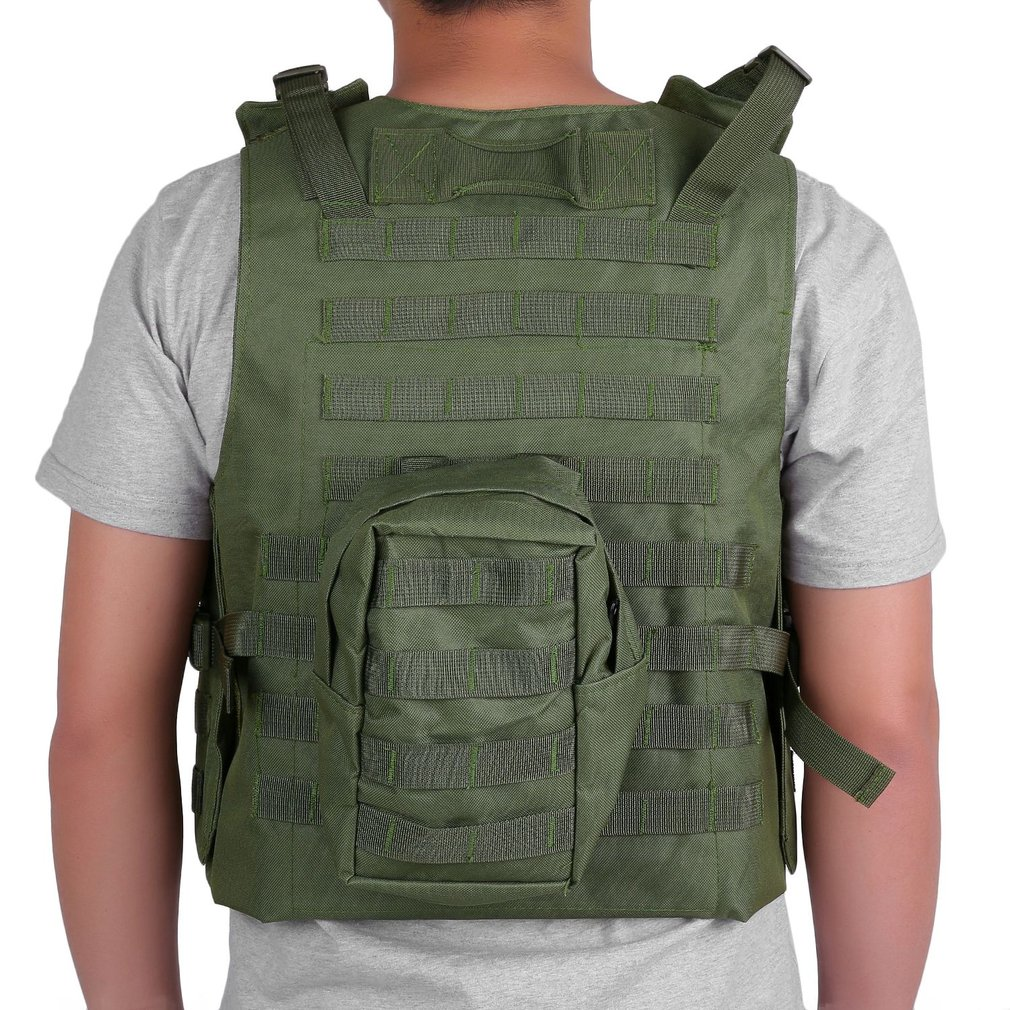 US Army Tactical Military Hunting Combat Assault Carrier Vest Adjustable Top