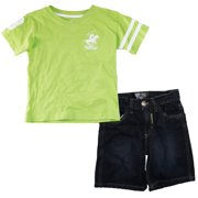Beverly Hills Polo Club Little Boys' V-Neck Tee Shirt and Short 2Pc Set