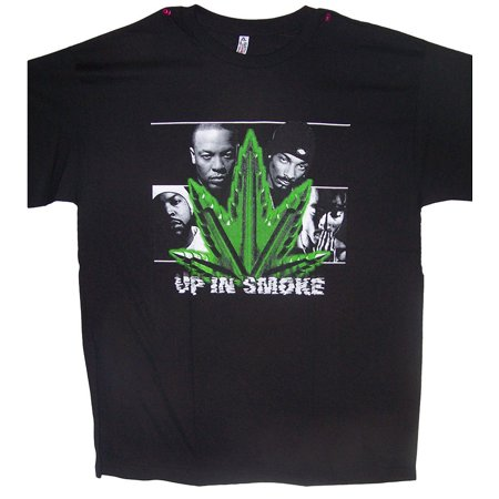 Up in Smoke Snoop Dog 2Pac Dr Dre Ice Weed Cotton T-Shirts (HhTs16-2XL