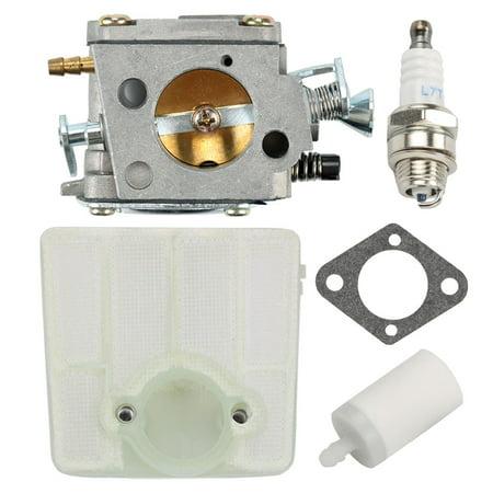 28 Kit - HIPA Carburetor For Husqvarna 61 66 181 266 281 288 Chainsaw Tillotson HS-254B Carbuetor Air filter Tune Up kit Replace 503 28 03-16 501807105