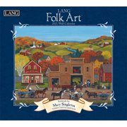 LANG Folk Art Wall Calendar by Mary Singleton