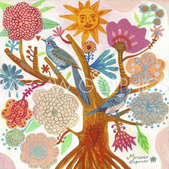 Sun Tree Poster Print by Mercedes Lagunas (12 x 12)