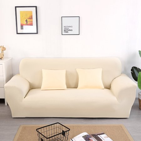 Stretch Sofa Slipcover , 2 Seater Loveseat Cover Elastic Sofa Cover Couch Pure Color Anti Wrinkle Sofa Protector For Moving Furniture Living Room ()