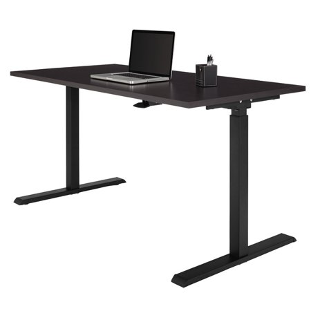 Realspace Magellan Pneumatic Stand Up Height-Adjustable Desk, (Realspace Magellan Performance Collection L Desk Espresso)