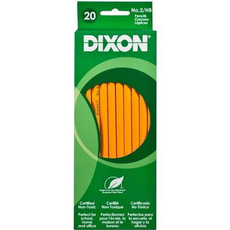 Dixon Woodcase Pencil, #2 HB, Yellow, 20-Count