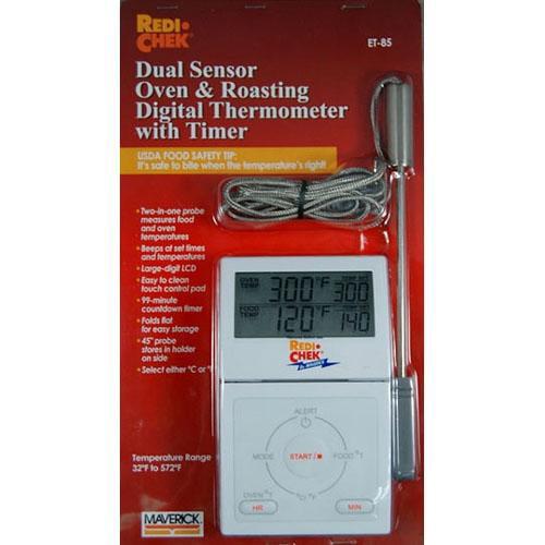 Maverick ET-85 Dual Sensor Oven & Roasting Digital Thermometer w/ Timer - C, F