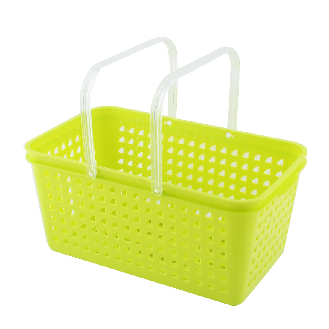 Unique Bargains Household Plastic Stationery Makeup Cosmetic Storage Organizer Basket Box Green