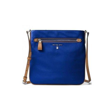 bbf3fde6a5ca Michael Kors - Michael Kors 32F7SO2C3C-446 Kelsey Graphite Nylon Large  Crossbody Handbag - Electric Blue - Walmart.com