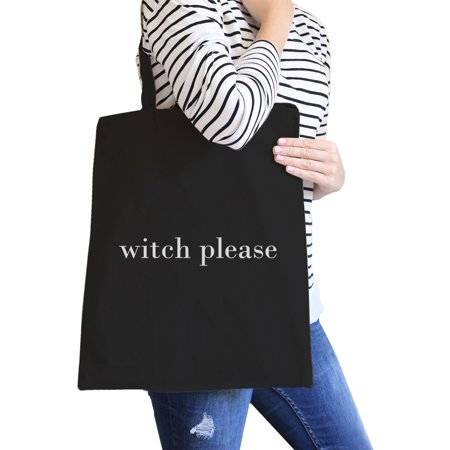 Witch Please Black Cute Halloween Canvas Shoulder Bag Gift - Halloween Body Bag Ideas