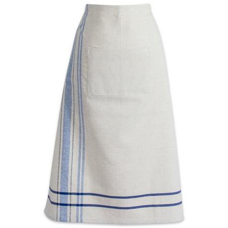Stripe Bistro Apron (DII Nautical Blue French Stripe Bistro Apron, 30x28