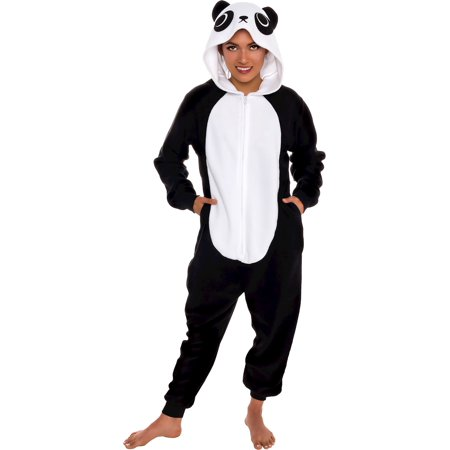 Silver Lilly Adult Slim Fit One Piece Cosplay Panda Animal - Adult Panda Suit