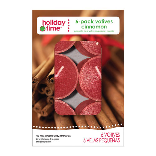Holiday Time 6-Pack Votives, Cinnamon