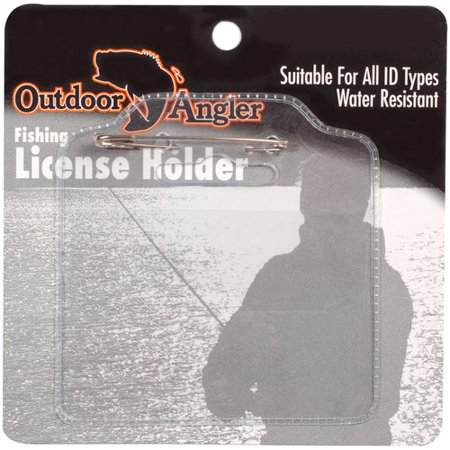 Outdoor angler license holder for Fishing license walmart