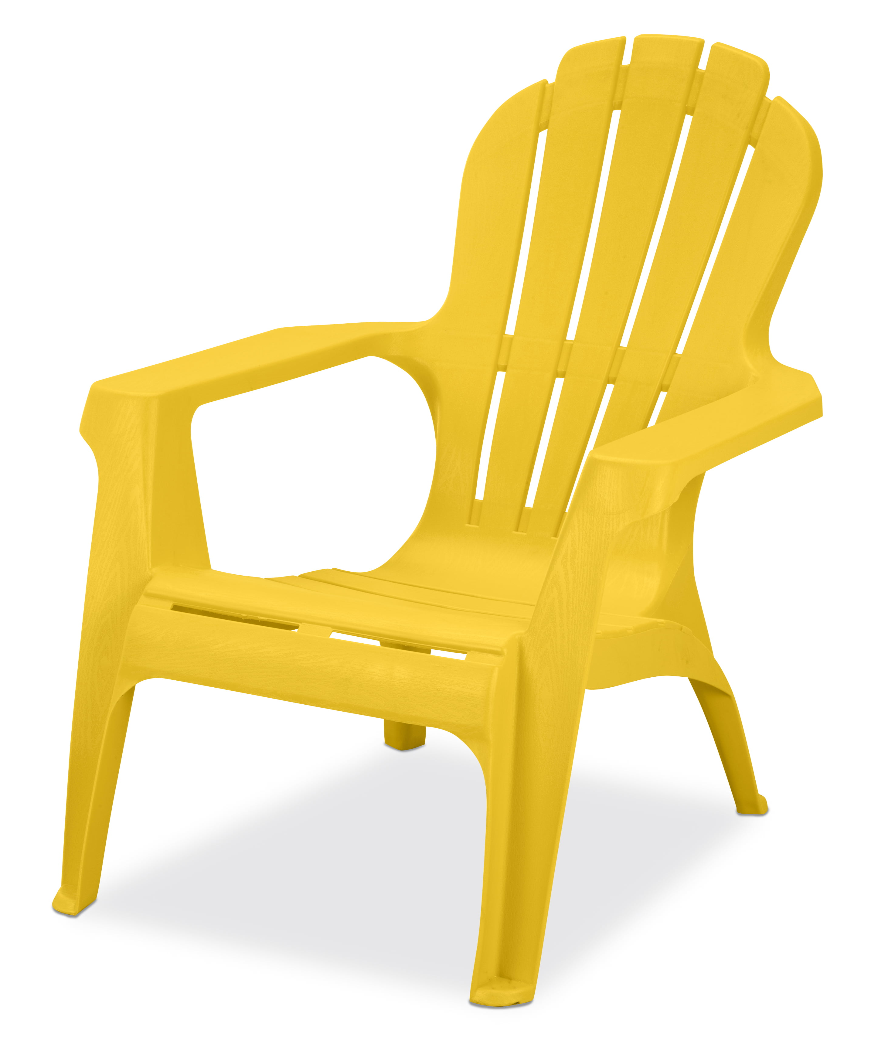 Us Leisure Resin Adirondack Chair Plastic Patio Furniture Yellow