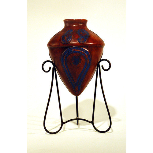 Metrotex Designs Southwest Paisley Kashmir Amphora Decorative Urn with Stand