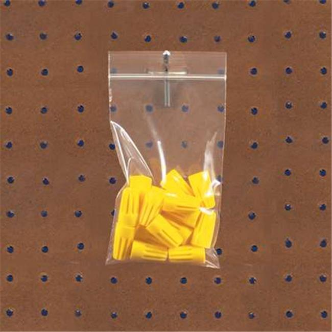 Box Partners PB7023 8 x 10 in. 4 Mil Reclosable Poly Bags with Hang Hole - Pack of 1000 - image 1 de 1