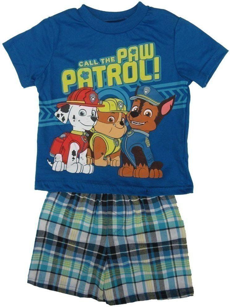 Nickelodeon Baby Boys Royal Blue Paw Patrol T-Shirt 2 Pc Shorts Set