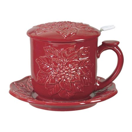 Andrea by Sadek - 10 oz. Covered Tea Set - Red