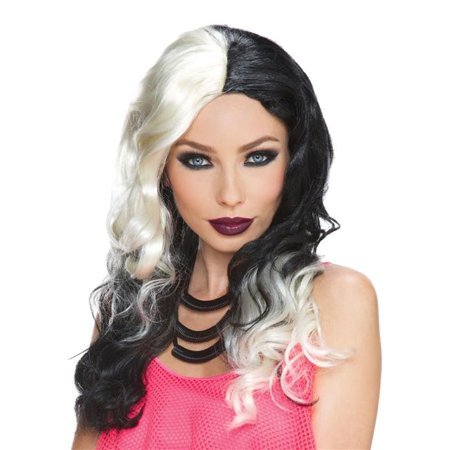 Morris Costumes MR177889 Wicked Witch Blonde Black Wig Costume - image 1 de 1