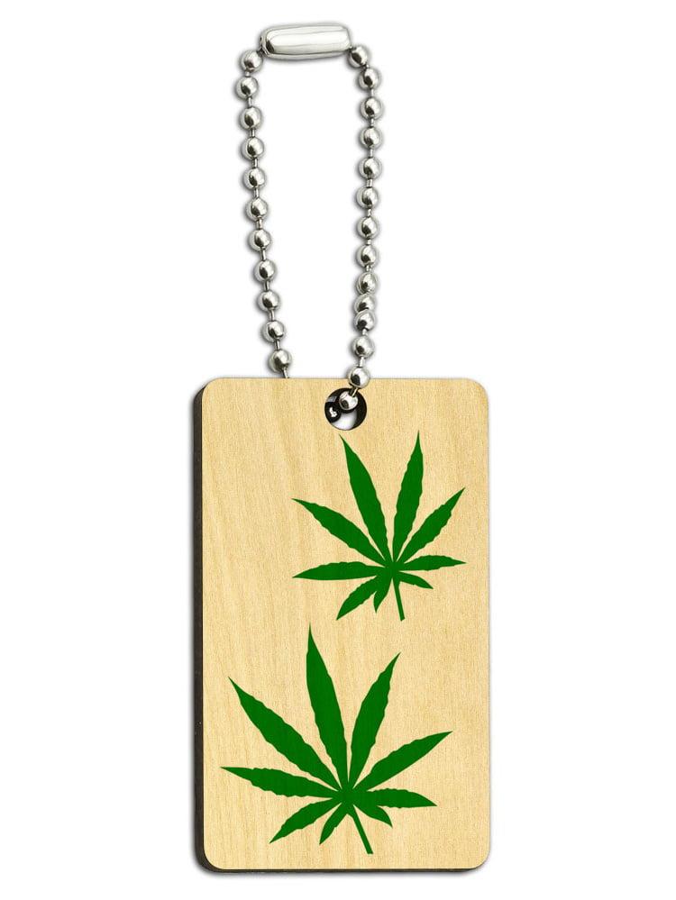 I Love Cannabis /& Coffee Laser Engraved Wood Keychain