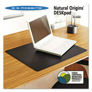 Natural Origins Desk Pad, 24 x 19, Matte, Black, Sold as 1 Each