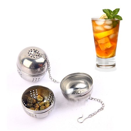 Stainless Steel Ball Tea Infuser Mesh Filter Strainer Loose Leaf Spice (Tea Leaf Ball)