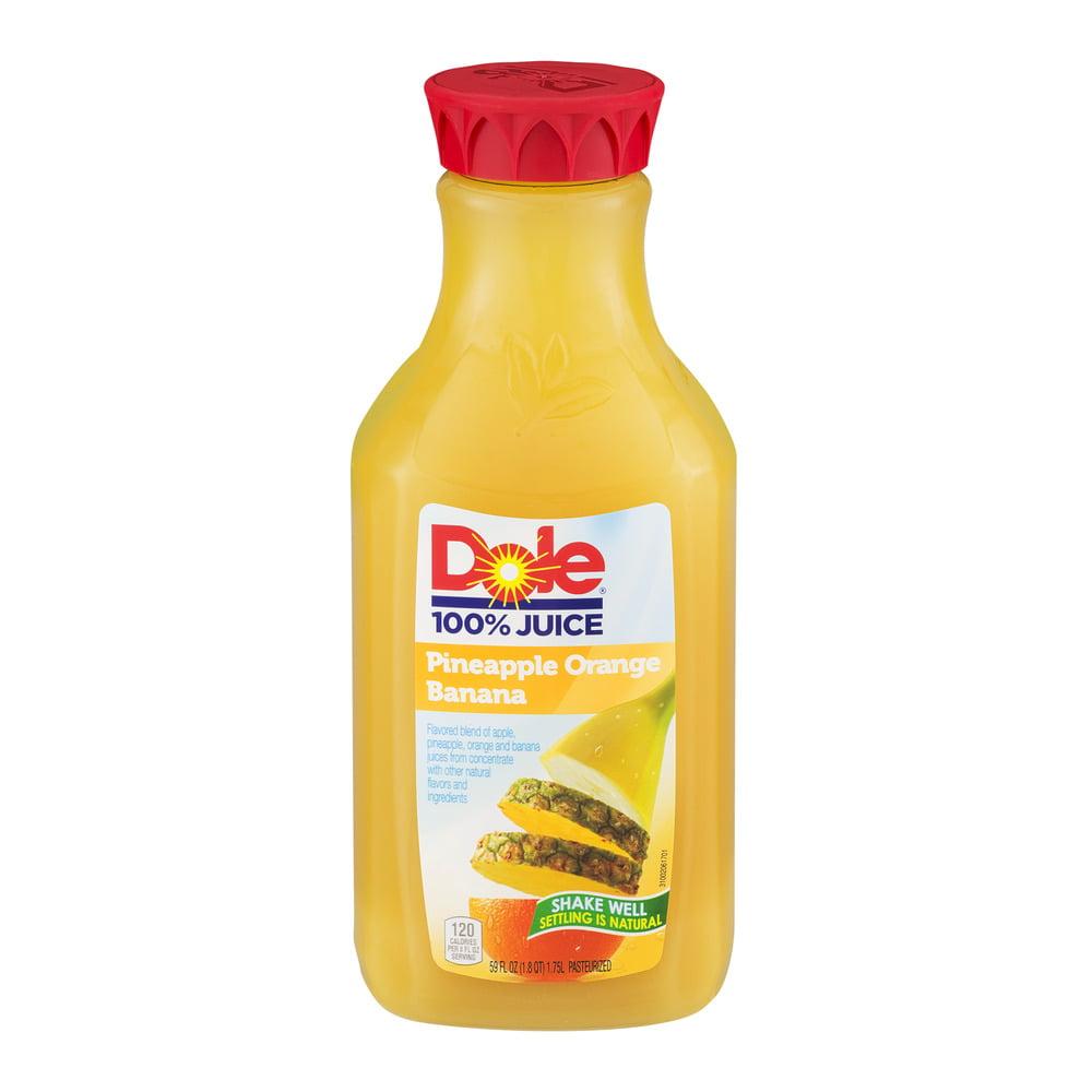 Dole Pineapple Orange Banana 100% Juice, 59 Fl. Oz ...