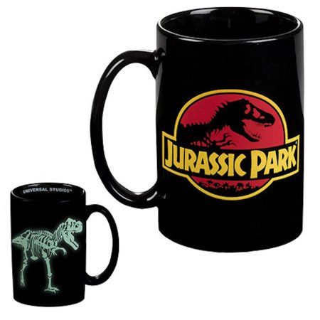 universal studios jurassic park glow in the dark ceramic coffee mug new - Universal Studios Shop