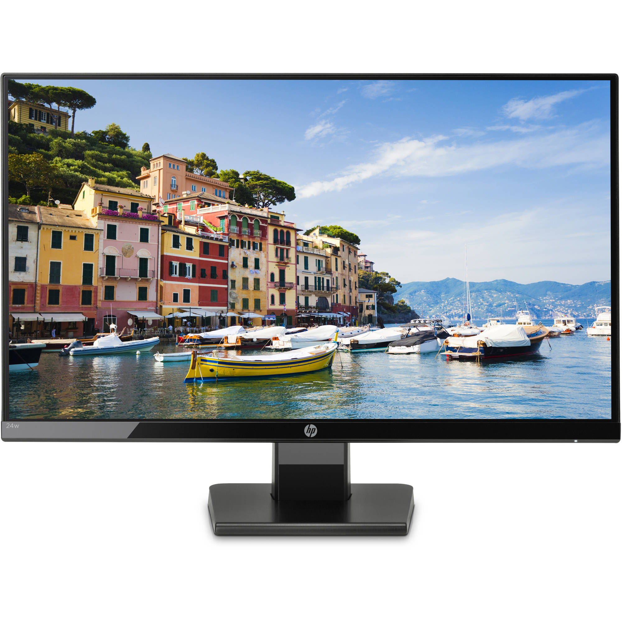 "HP 23.8"" LCD Widescreen Monitor (24W Black)"