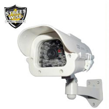 Streetwise Security Products SWDC7SP 7 IR Dummy Camera in Outdoor Housing w-Solar Powered Ligh