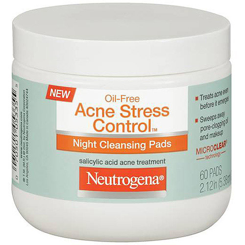 Neutrogena Oil-Free Acne Stress Control Night Cleansing Pads - 60 Ct