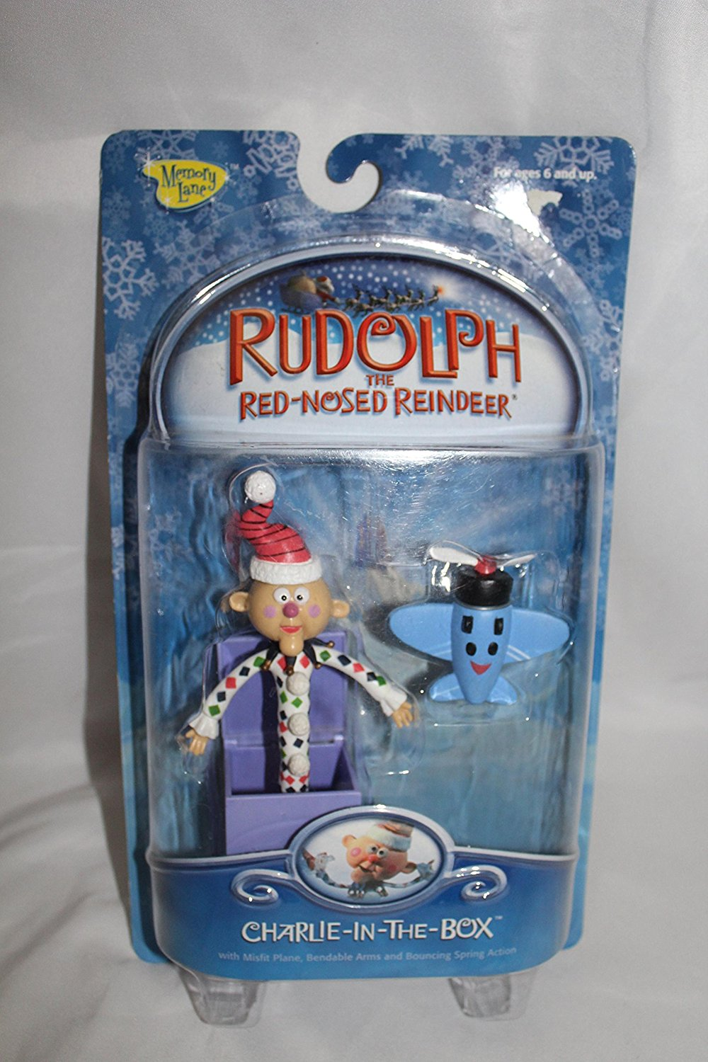 Rudolph the Red-nosed Reindeer Charlie in the Box Action Figure ...