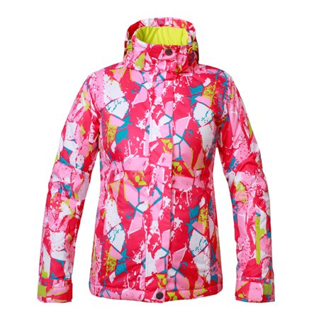 Women's Hooded Windproof Ski Jacket Breathable Waterproof Sports Skiing Snowboard Jacket