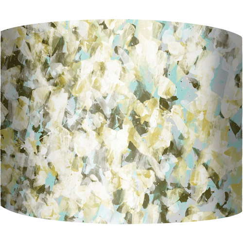 "12"" Drum Lampshade, Green Abstract by"