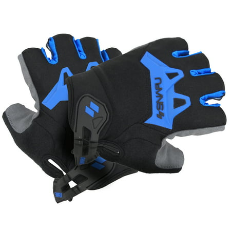 Fingerless Bike Gloves - SNAFU Vibe Fingerless Bicycle Gloves (Washable, Velcro Wrist, Grippy)