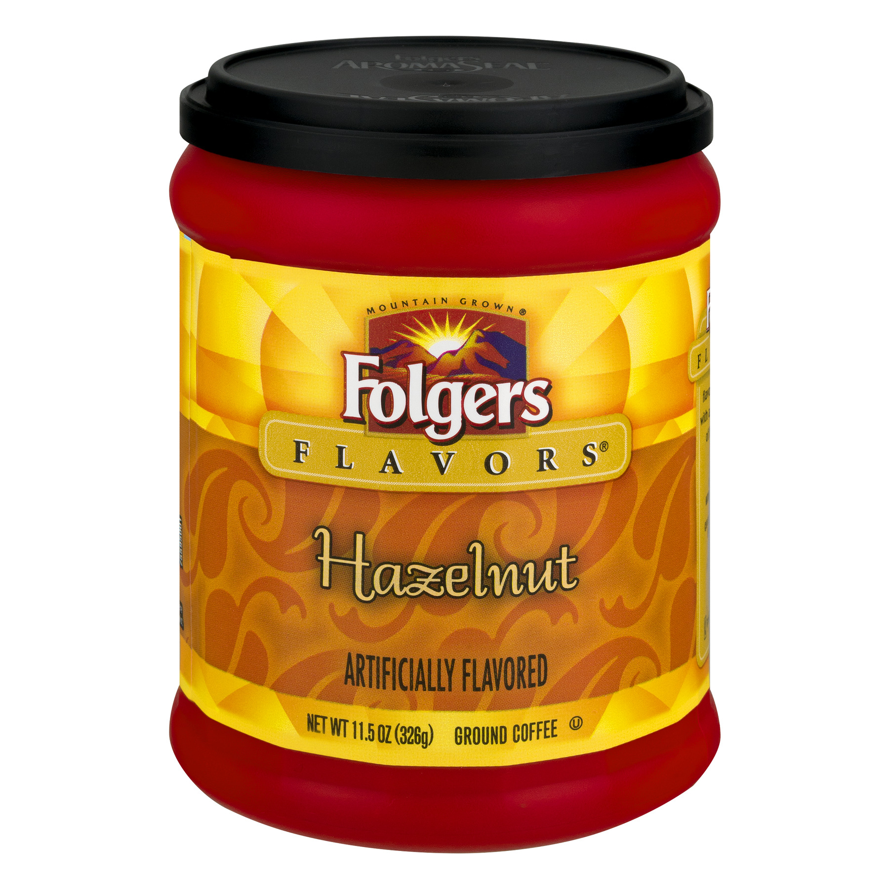 Folgers Flavors Hazelnut Ground Coffee, 11.5 oz