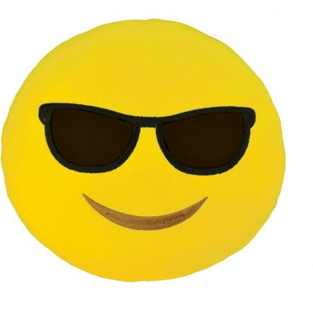 Emoji Large Pillow, Sunglasses - 8 Emoji