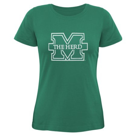 Marshall Thundering Herd Women's Core Logo Too Relaxed T-Shirt - Kelly Green