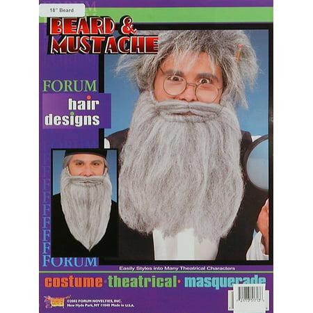 Beard Costumes Halloween (14 Inch Grey Beard And Moustache Halloween Costume)