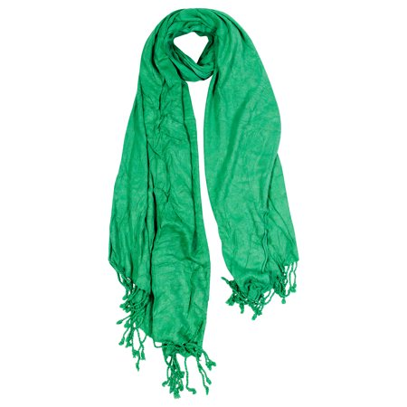 Hijaz Lime Green Jacquard Style Embroidered Rectangle Women's Hijab Scarf with