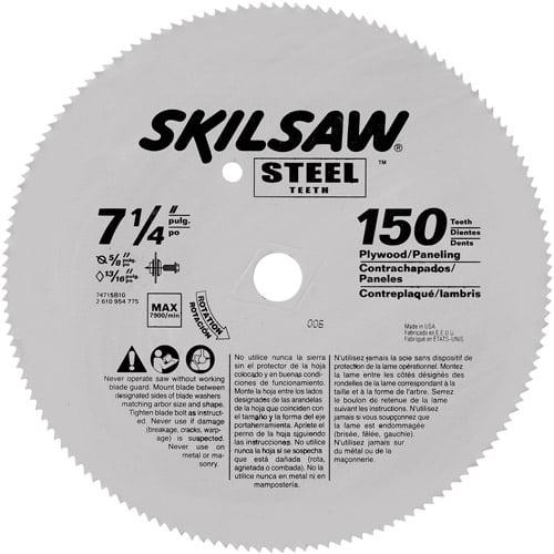 "Skil 7-1/4"" 150-Tooth Steel Circular Saw Blade, 74715"