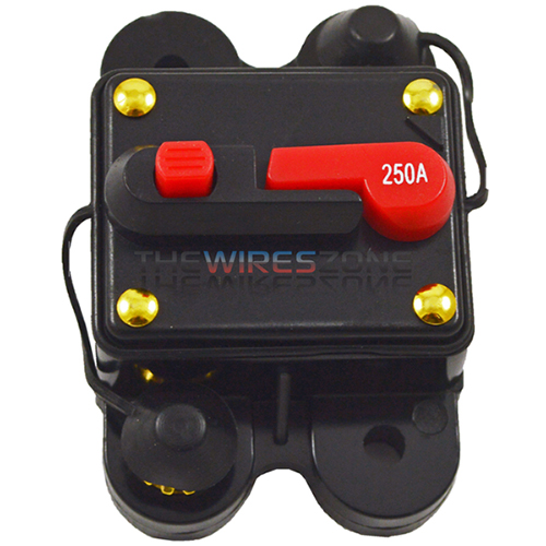 12V DC 60A-250A AMP Auto Marine Boat Stereo Audio Inline Circuit Breaker Fuse