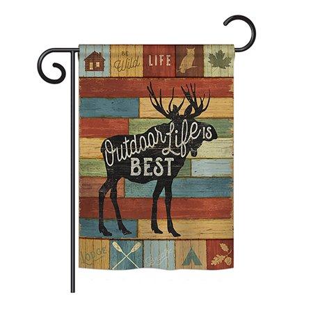 Breeze Decor - Outdoor Life Is Best Nature - Everyday Outdoor Impressions Decorative Vertical Garden Flag 13