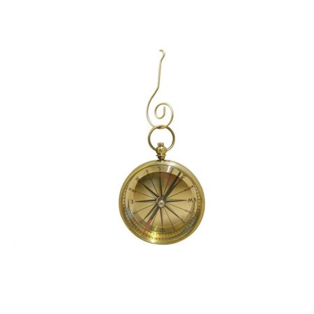 Solid Brass Lensatic Compass Christmas Ornament 5