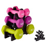 Eleanos Weight Dumbbell Holder 3-Tier Tripod Rack Stand Support Organizer